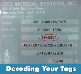 OEC Serial Tag