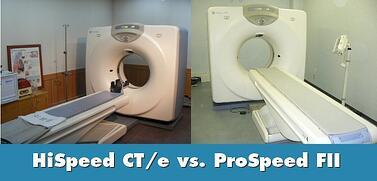 HiSpeed CT/e Dual vs. ProSpeed FII