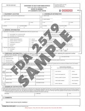 FDA 2579 Sample