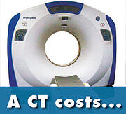 ct scanner cost