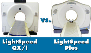 GE LightSpeed CT scanner comparison