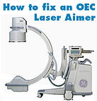 how to fix an oec laser aimer