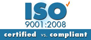 iso compliant vs iso certified