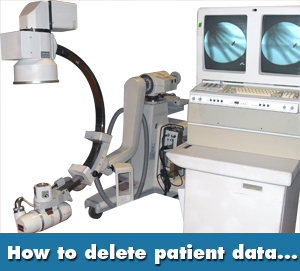 oec 9400 c arm how to delete patient data hipaa compliance