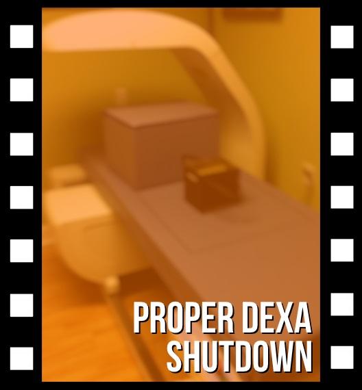 Proper shutdown on a Hologic DEXA system