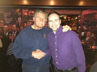Mike Ditka at Mike's Steakhouse