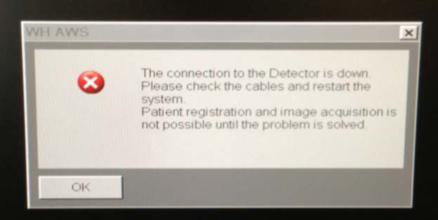 Detector Connection Error