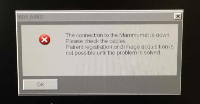 Mammomat Connection Error
