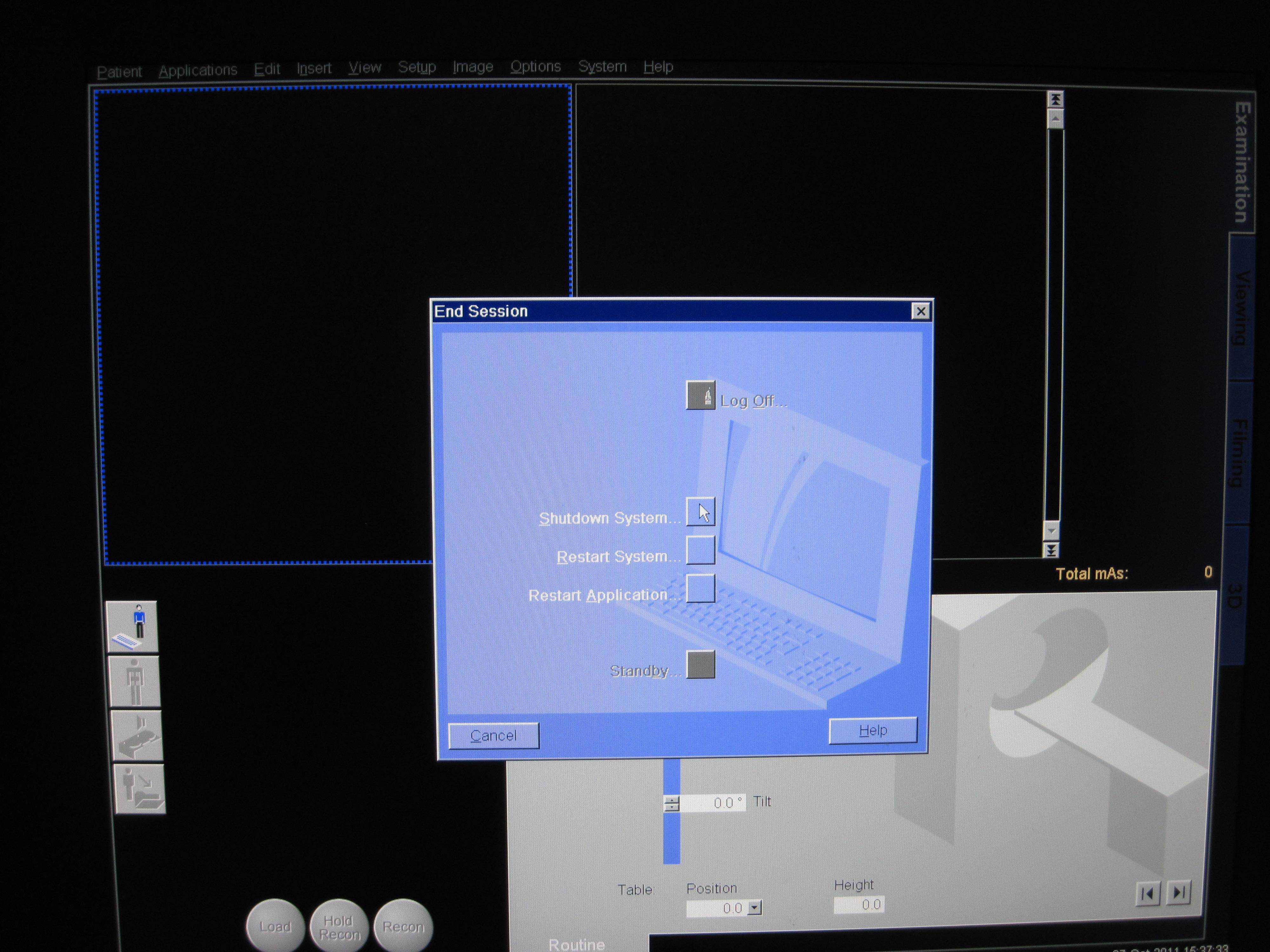 Siemens CT System Shutdown