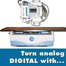 turn analog x ray into digital x ray system