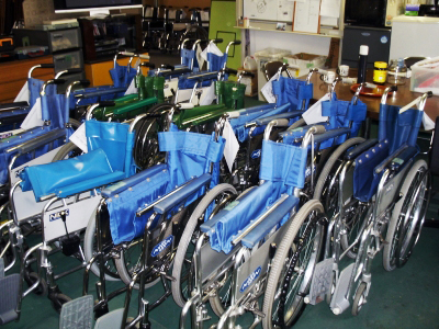 Wheelchairs donated by Block Imaging