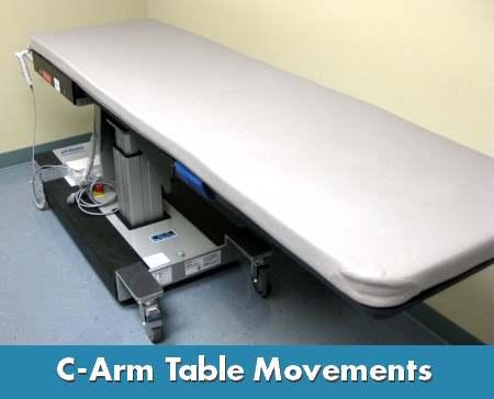 c arm table movements