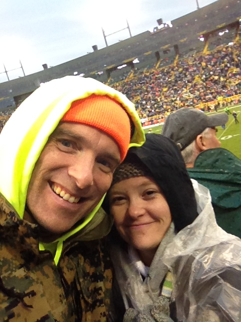 At the Packer's game
