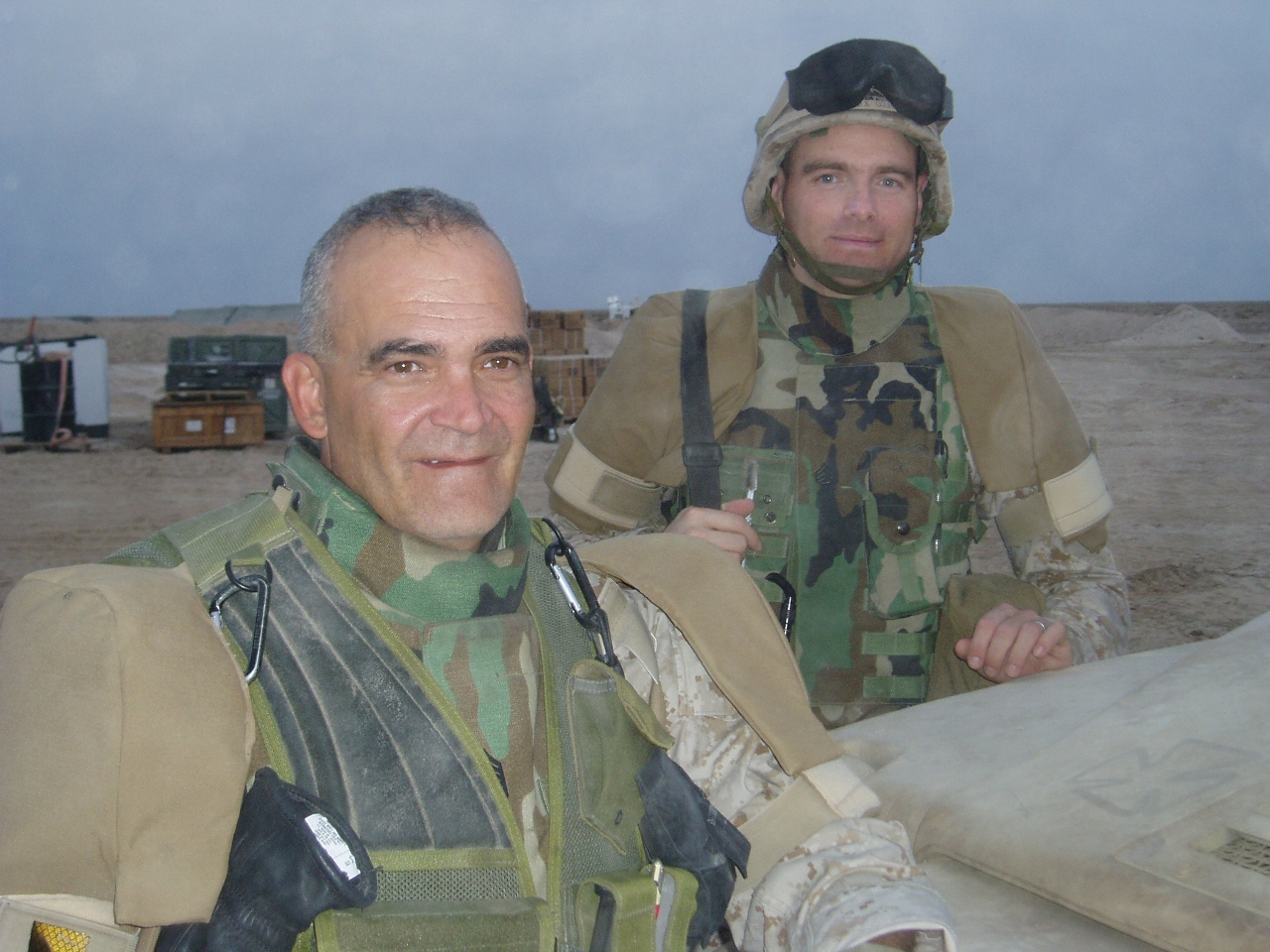 Bill in Iraq Serving