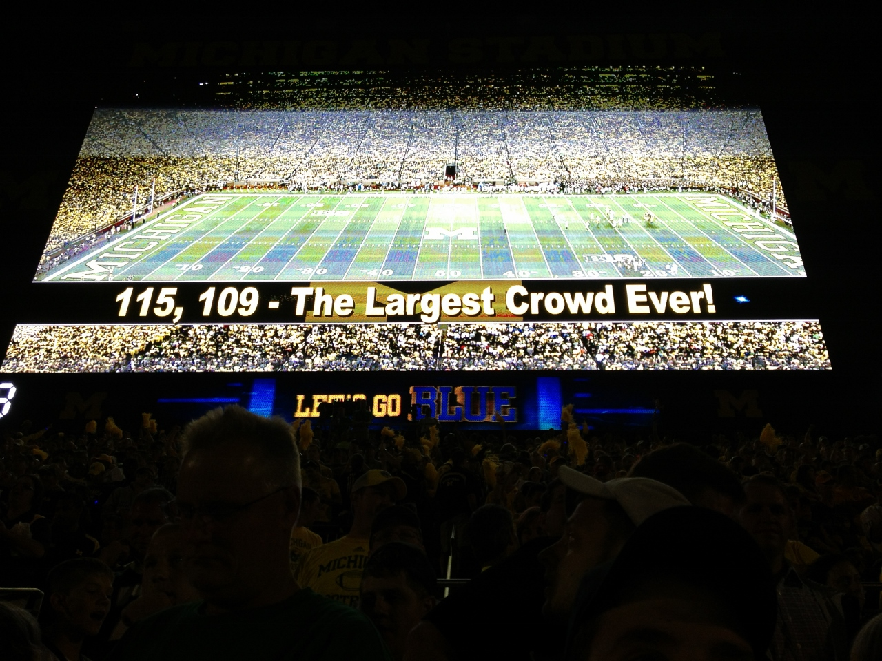UofM Stadium - largest crowd ever