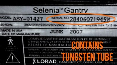 Hologic Selenia Tungsten Serial Number.jpg