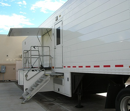 Overhead Door Awning for Mobile MRI