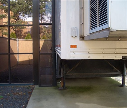 Permanent Walkway Covering for Mobile MRI 2