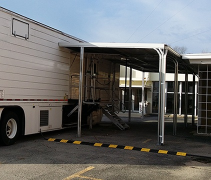 Semi Permanent Walkway Covering for Mobile MRI
