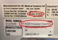 GE Innnova RTAC Serial Tag