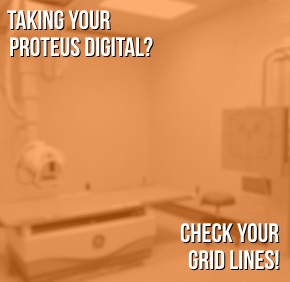 Check your grid lines on your proteus X-ray